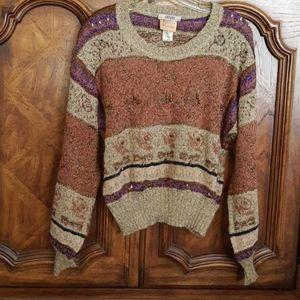 Vintage Krizia Maglia Mohair & Metallic Sweater 42